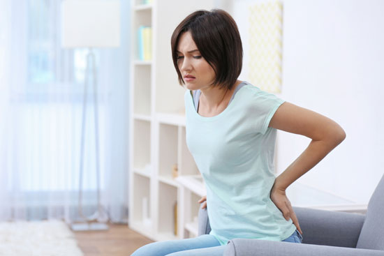 woman suffering from frequent disc problems